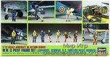 HA35008 WWII PILOT FIGURE SET (JAP, GER, US, BRITISH PILOT FIGUR