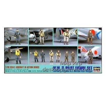 HA36007 WWII PILOT FIGURE SET (JAPANESE, GERMAN, U.S., BRITISH)