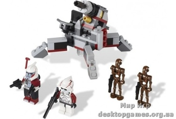 Lego «Боевой комплект Клонов и дроидов-диверсантов» Star Wars 9488