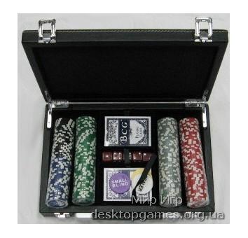 Покерный набор на 200 фишек c номиналом