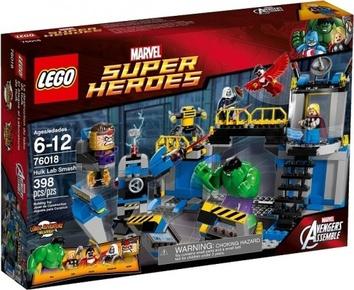 Lego Халк громит лабораторию Super Heroes 76018