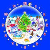 """Часы-пазл """"Новогодние забавы"""" 126-09"""