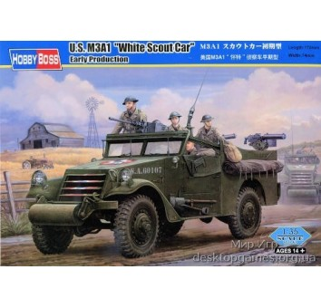 Сборная пластиковая модель бронетранспортера M3A1
