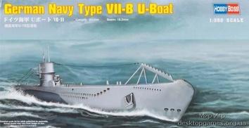 Пластиковая модель подлодки типа VII-B Uboat