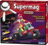 Магнитный конструктор Трицикл с водителем SUPERMAG