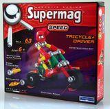 Магнитный конструктор Карт с водителем SUPERMAG