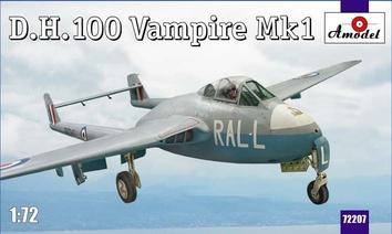 D.H.100 Vampire Mk1 RAF jet fighter