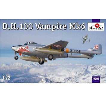 D.H.100 Vampire Mk6 RAF jet fighter