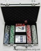 Покерный набор на 200 фишек с номиналом, кейс