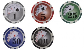 Покерный набор на 200 фишек с номиналом, кейс - фото 2