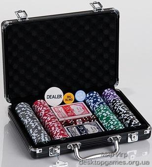 Покерный набор 200 фишек, кейс, С4 - фото 3