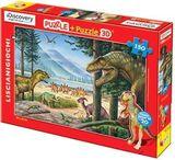 Пазл-3D 150 (Динозавр красный)