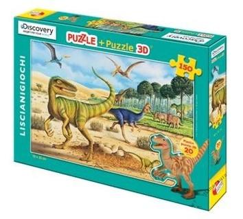 Пазл-3D 150 (Динозавр зелёный)