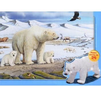 Пазл-3D 150 (Белый медведь)