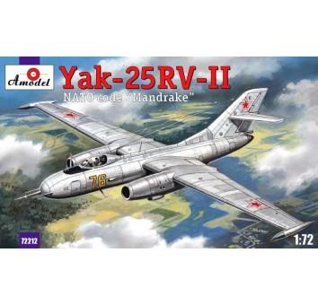 Пластиковая модель истребителя-перехватчика Як-25РВ-II