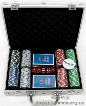 Покерный набор 200 фишек, кейс