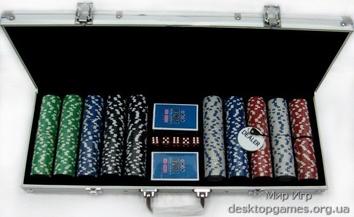 Покерный набор на 500 фишек, кейс