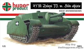 """Самоходная артиллерийская установка 43M """"Зриньи II"""" с боковыми юбками"""