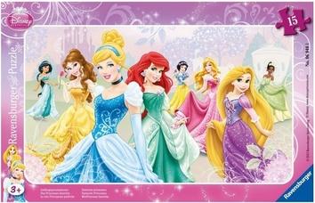 Пазл Принцессы Дисней в рамке 15 элементов