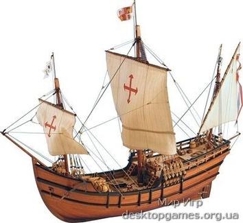 Деревянная сборная модель корабля Pinta (Пинта)