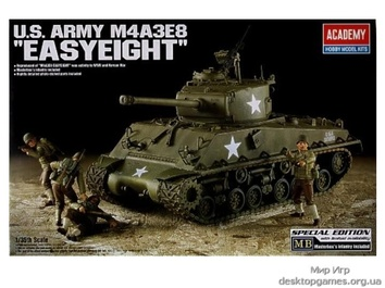 Модель танка М4А3Е8 Шерман «Счастливая восмерка»