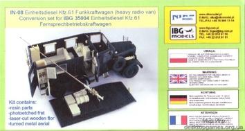 Конверсионный набор для Kfz.61 Funkkraftwagen