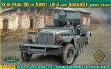2cm Flak 30 sfl SdKfz.10/4 with SdAnh51 ammo trailer