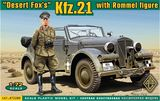 Kfz.21 with Rommel figure