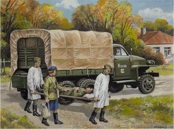 «Студебекер» US6 с советским медицинским персоналом