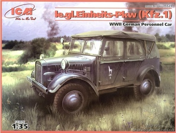 le.gl.Einheits-Pkw (Kfz.1) WW II Германский штабной автомобиль.