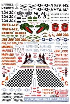 Modern US MARINE corps. F-18 Hornet, VMFA-134, VMFA-142