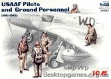 ICM48083 WWII US Pilots and Technics
