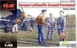 ICM48085 WWII German Luftwaffe Ground Personnel, 1939-1945