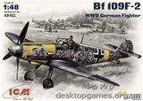 ICM48102 Messerchmitt Bf-109 F2 WWII German fighter