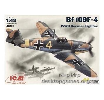 ICM48103 Messerchmitt Bf-109 F4 WWII German fighter