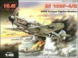 ICM48104 Messerchmitt Bf 109F-4 WWII German fighter
