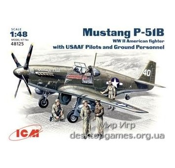 ICM48125 P-51B WWII USAF fighter + Pilots and Technics