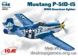 ICM48151 Mustang P-51 D-15 WWII USAF fighter