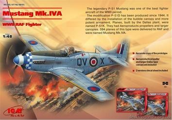 Mustang Mk.IVA, Американский истребитель II МВ - фото 3