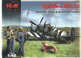 Spitfire Mk.IX с пилотами и техниками ВВС Великобритании