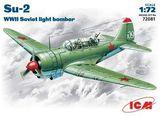 ICM72081 Sukhoi Su-2 WWII Soviet bomber