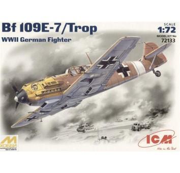 ICM72133 Messerchmitt Bf-109 E7/Trop WWII German fighter