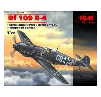 ICM72134 Messerschmitt Bf 109E-4 WWII German night fighter