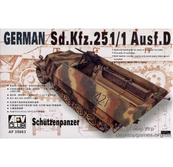 Sdkfz251 D/1   HALF TRUCK Schutzenpanzer«