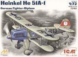 ICM72193 Henkel He-51 A1 German fighter-biplane