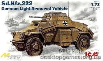 ICM72411 Sd.Kfz.222 WWII German light armored vehicle