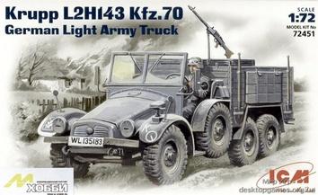 ICM72451 Krupp L2H143 Kfz.70 WWII German light truck