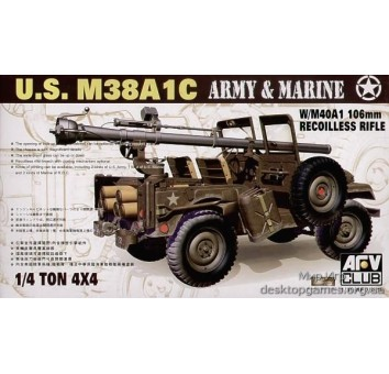 M38AIC  1/4T 106mm Rec Rifle