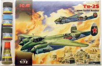 ICMset72031 Tupolev Tu-2 WWII Soviet bomber (самолет)