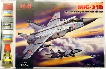 ICMset72151 MiG-31 Foxhound Soviet heavy interceptor (самолет)